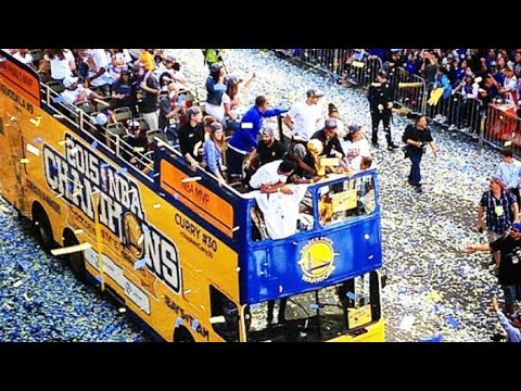 Warriors parade tips off with thousands of cheering fans on hand