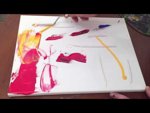 Abstract painting techniques | Acrylic painting on canvas | Palette knife painting  demonstration