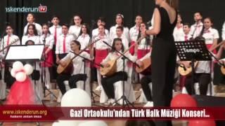 Gazi Ortaokulu Halk Müziği Konserine ilgi