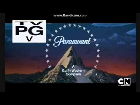 Paramount Pictures 1987 Logo with Cartoon Network Logo & TV-PG-V Rating