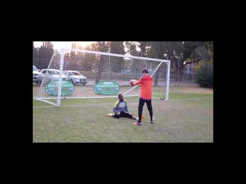 Goalkeeper training handling & stretching