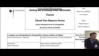 Konsolosluk Basvuru Formu Almanya Aile Birlesimi #3