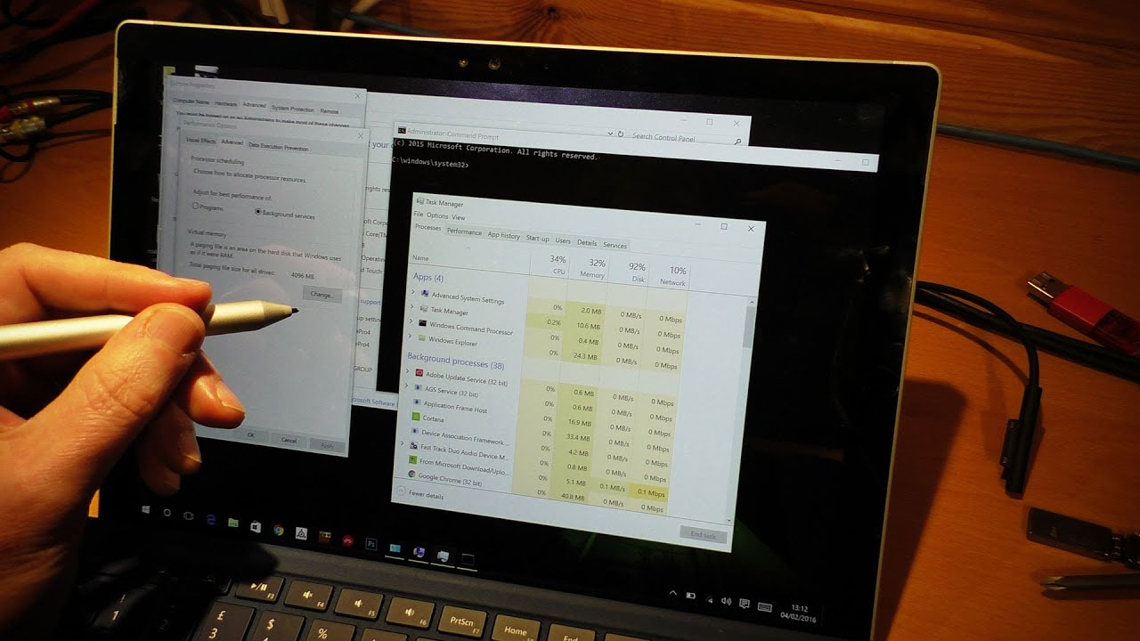 Tweaking Windows 10 on the Surface Pro 4 for Music Production