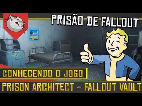 CONSTRUA UM VAULT DE FALLOUT! - Prison Architect Fallout Mod [Conhecendo o Jogo Gameplay PT-BR]
