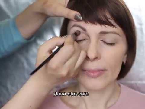 Макияж для плоского/нависшего века/визуальное увеличение глаз