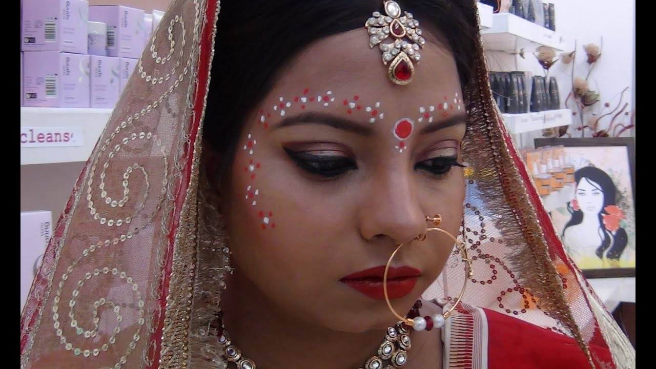 bengali bridal makeup tutorial - youtube