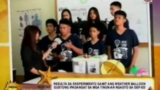 Weather Balloon Flight to the Edge of Space (for Philippine K-12 Senior High School)