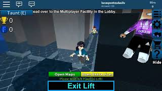 Roblox the Lucas playing prision live with mom.