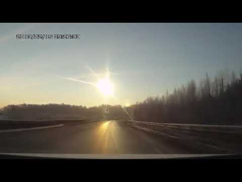 Manyrin в машине увидел метеорит