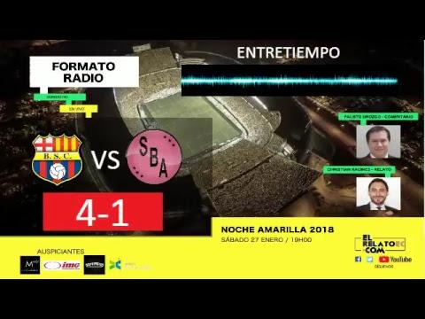 EN VIVO   Barcelona SC vs Sport Boys, noche amarilla en formato radio.