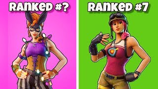RANKING ALL UNCOMMON SKINS FROM WORST TO BEST! Fortnite Battle Royale - Classement de tous les skins rares