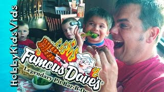 Bbq Ribs! Oreo Cookies + Strawberry Lemonade At Famous Daves Food Restaurant Review Hobbykidsvids