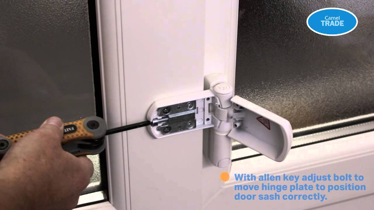 How To Adjust A Hinge For A Dropped Pvc Door Youtube