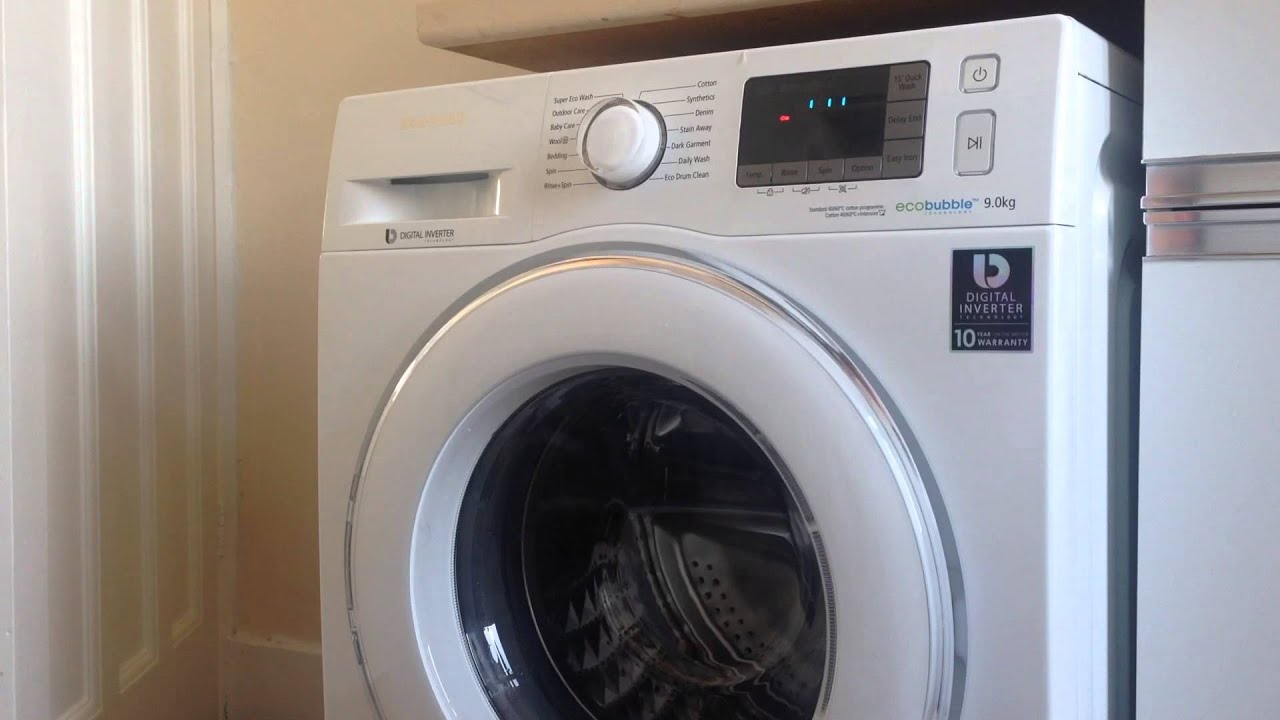 samsung eco bubble washing machine drum calibration youtube. Black Bedroom Furniture Sets. Home Design Ideas
