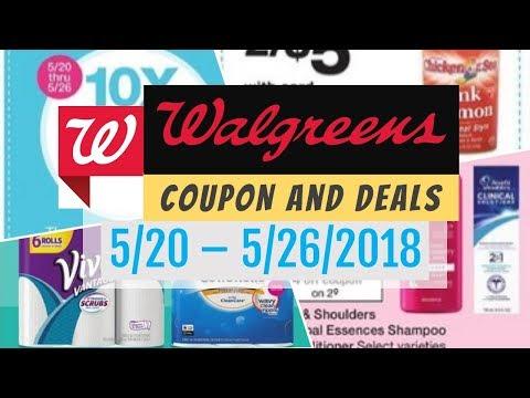 Walgreens Coupon Deals May 20 - 26, 2018