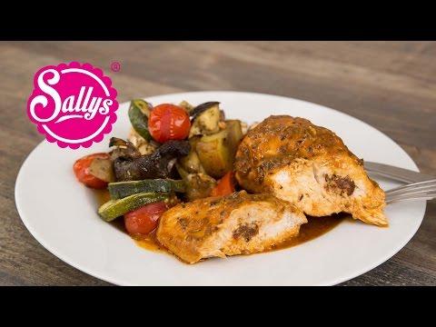 gefüllte Hähnchenbrust mit mediterranem Ofengemüse / Was koche ich heute? / Sallys Welt