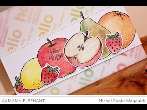 Fresh Fruits with Colored Pencils (Mama Elephant)