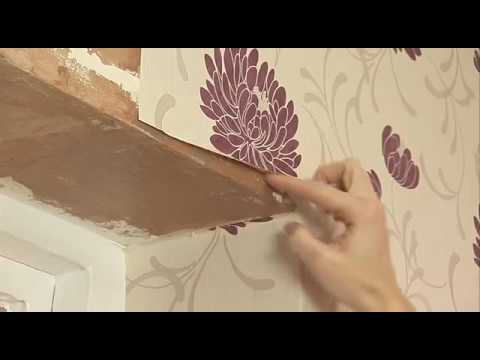 How to apply wallpaper around a window frame youtube - Wallpapering around a curved corner ...