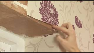 How to: apply wallpaper around a window frame