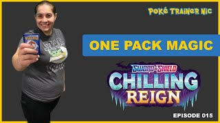 Pokémon Sword & Shield Chilling Reign One Pack Magic or Not, Episode 15 #Shorts