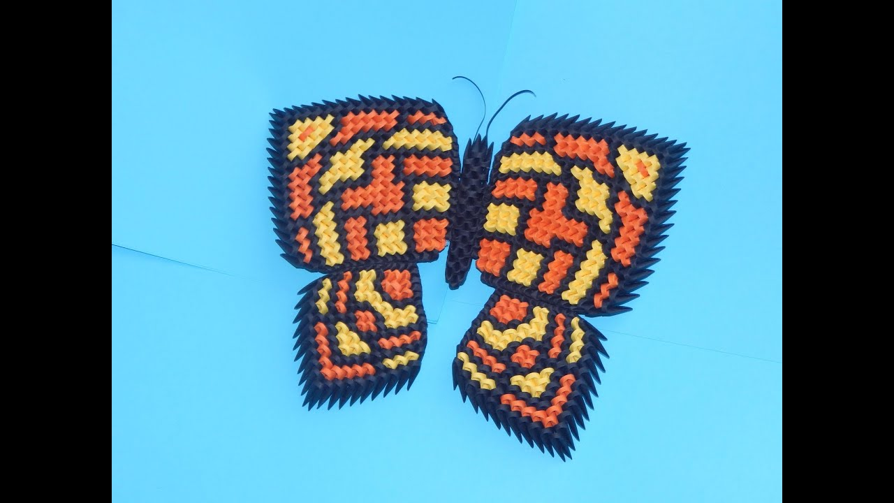How to make 3d Origami Butterfly part1 - YouTube - photo#48