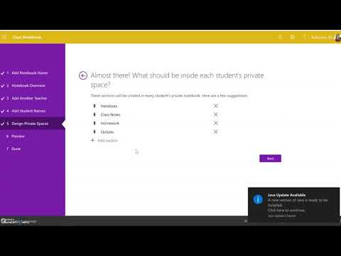 Creating a OneNote Class Notebook (updated 2019)