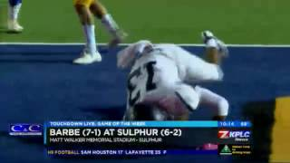 TDL Week 9: Barbe beats Sulphur 38-24
