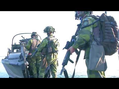 Archipelago Endeavor - Swedish Marines practice amphibious landings/assaults and Interview, SWEDEN