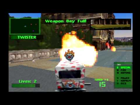 Twisted Metal 2 Sweet Tooth Tournament Playthrough HD