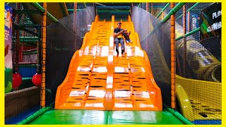 Kids Club Indoor Playground with Huge Slides and Fun Family Time