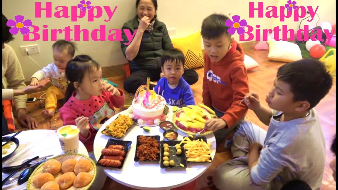 Happy birthday Misa 7 years old with funny kids and cake birthday more nursery rhymes for babies