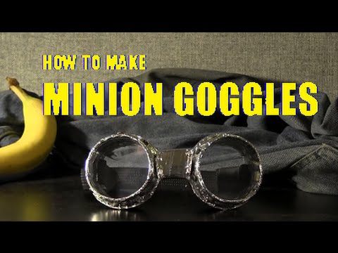How To Make Minion Goggles Halloween Accessory Youtube
