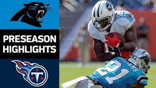 Panthers vs. Titans | NFL Preseason Week 2 Game Highlights