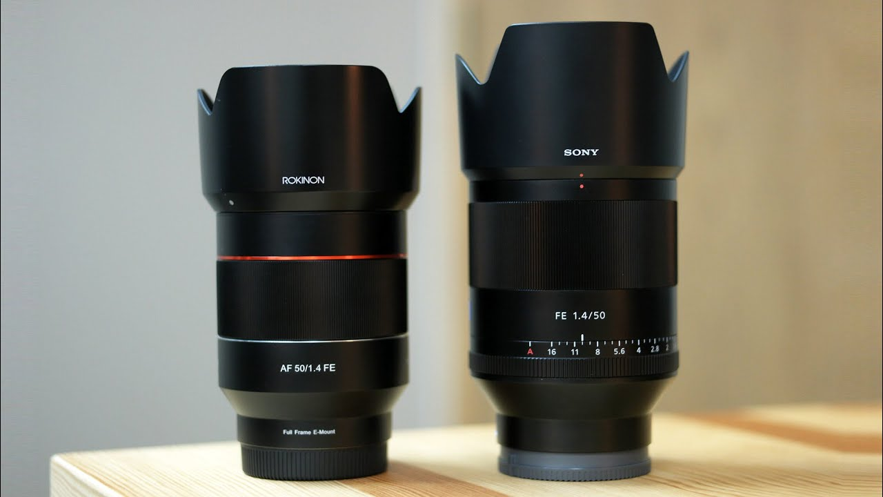 Rokinon Af 50mm F 14 Vs Sony Planar F14 Comparison Review Nikon F14d Youtube