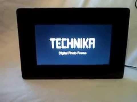 technika digital photo frame demonstration - YouTube