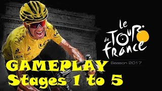 Tour de France 2017 - GAMEPLAY - Stages 1 to 5