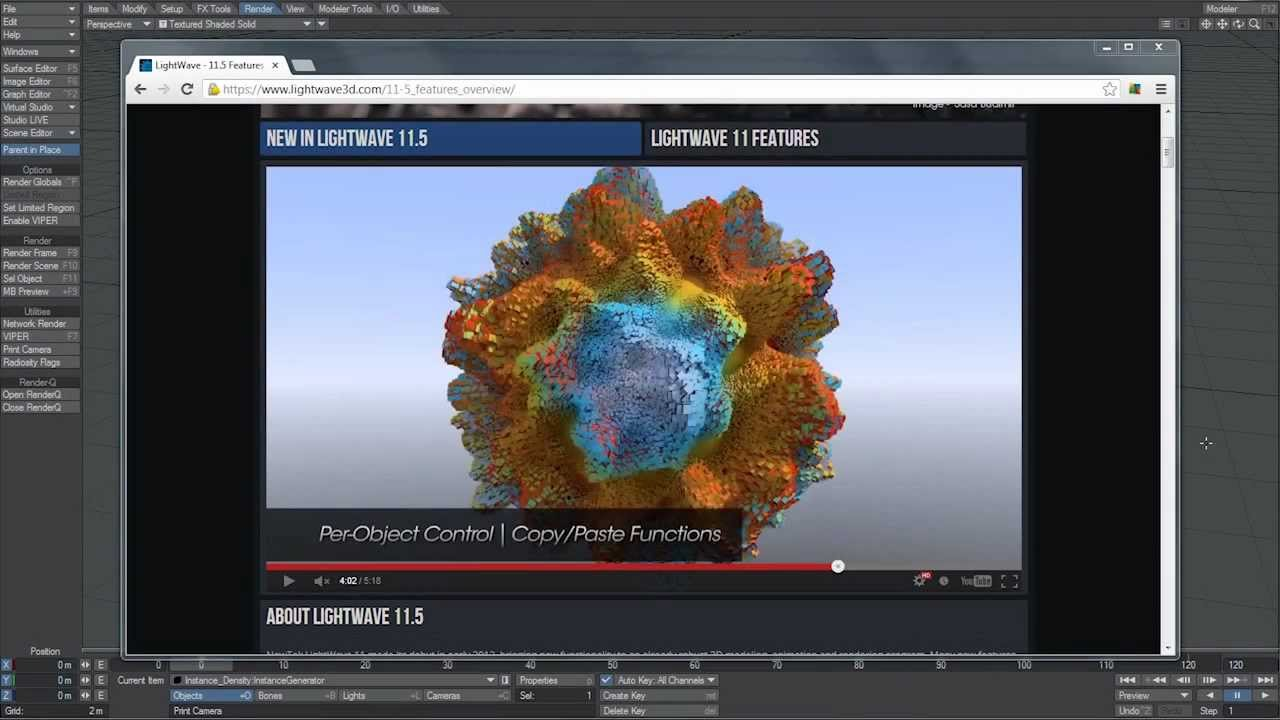 lightwave 11 5 instancing abstract tutorial youtube rh youtube com