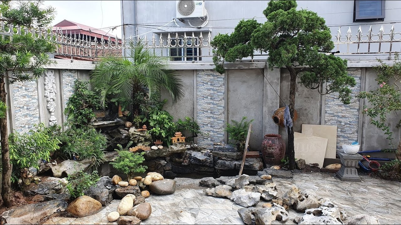 Mẫu Tiểu Cảnh Sân Vườn Đẹp Cho Biệt Thự Có Diện Tích Sân Vườn Vừa Phải Tại Nam Định
