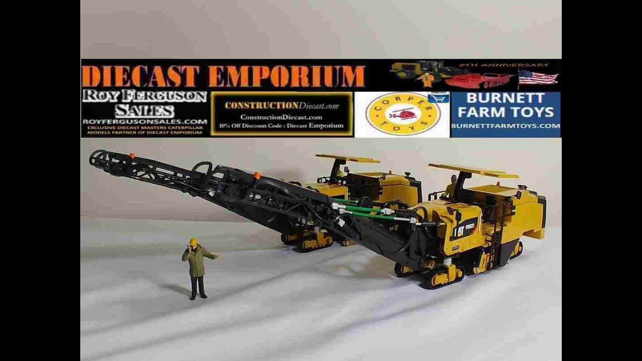 Diecast Masters Caterpillar PM622 & PM822 Cold Planers (Item Numbers 85587  & 85588)