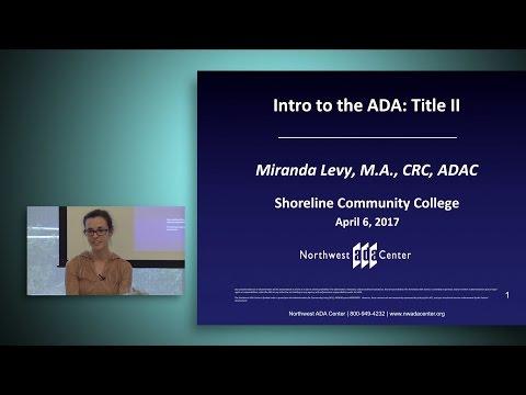 Intro to the ADA: Title II