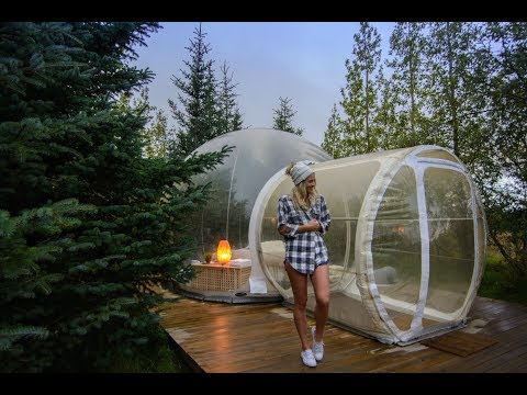 Sleeping in Iceland's Bubble Hotel under the Northern Lights!
