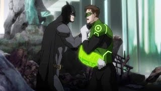 BATMAN Motivating GREEN LANTERN with Amazing Speech || Justice League War 2014 Movie ||