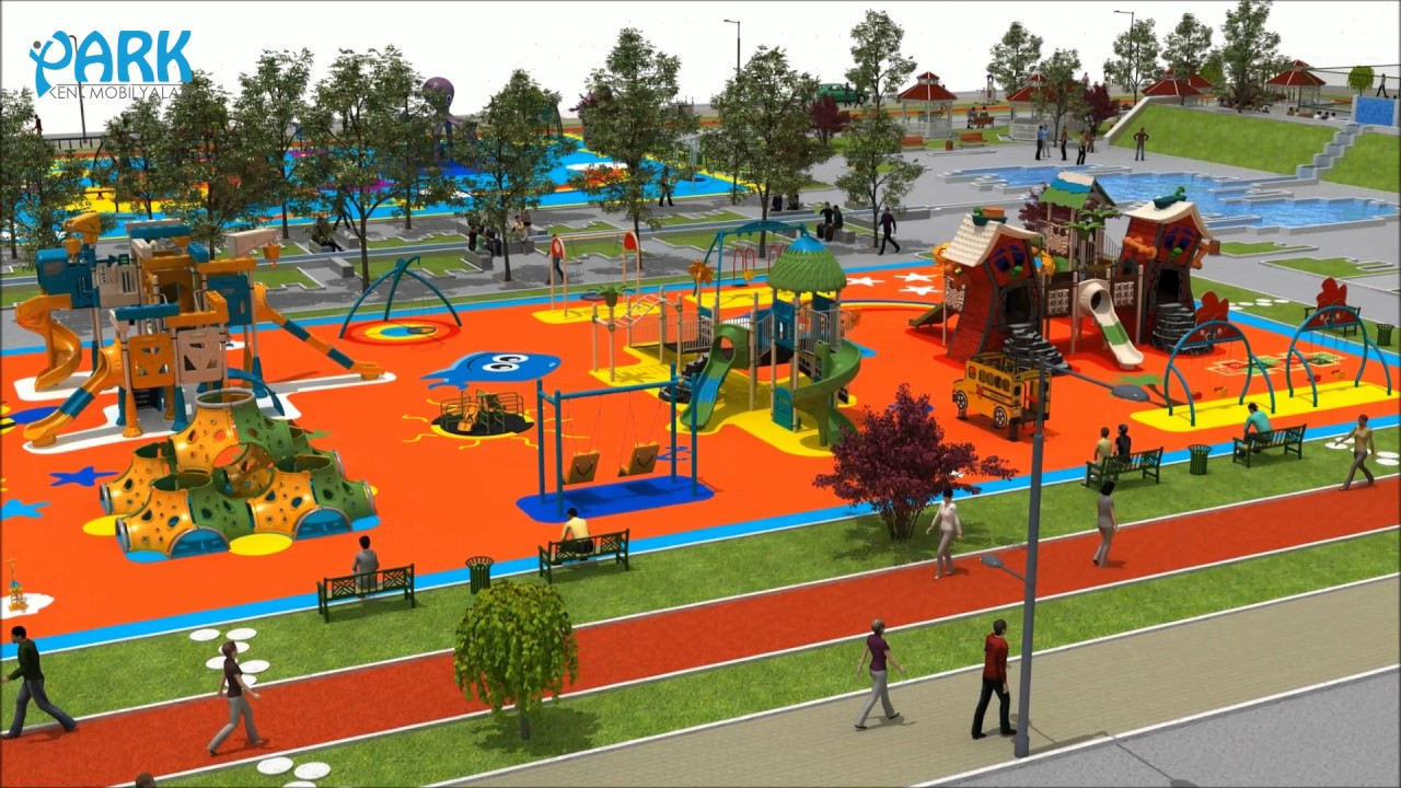 Public Park And Playground Concept Design Youtube