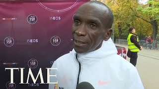 Eliud Kipchoge Becomes First Person In Recorded History To Run A Marathon In Under 2 Hours   TIME