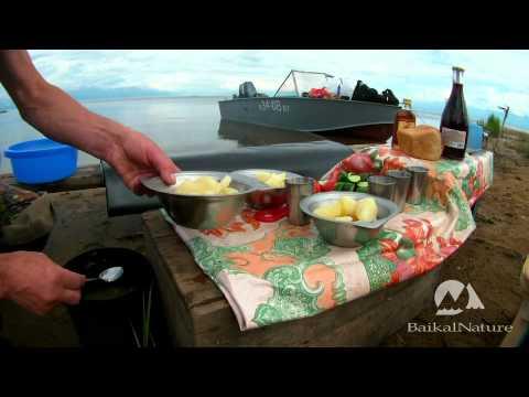 Lunch on Yarki Island - Lake Baikal, Siberia