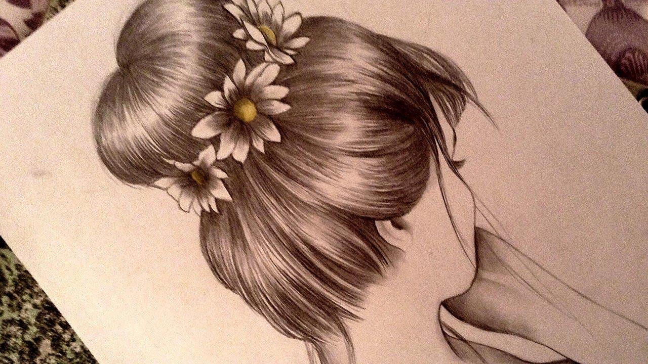 Drawing a romantic bun