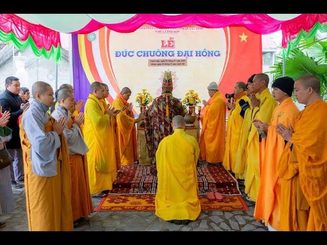 Lễ đúc Chuông Đại Hồng chùa Linh Sơn | Phật giáo Quảng Bình