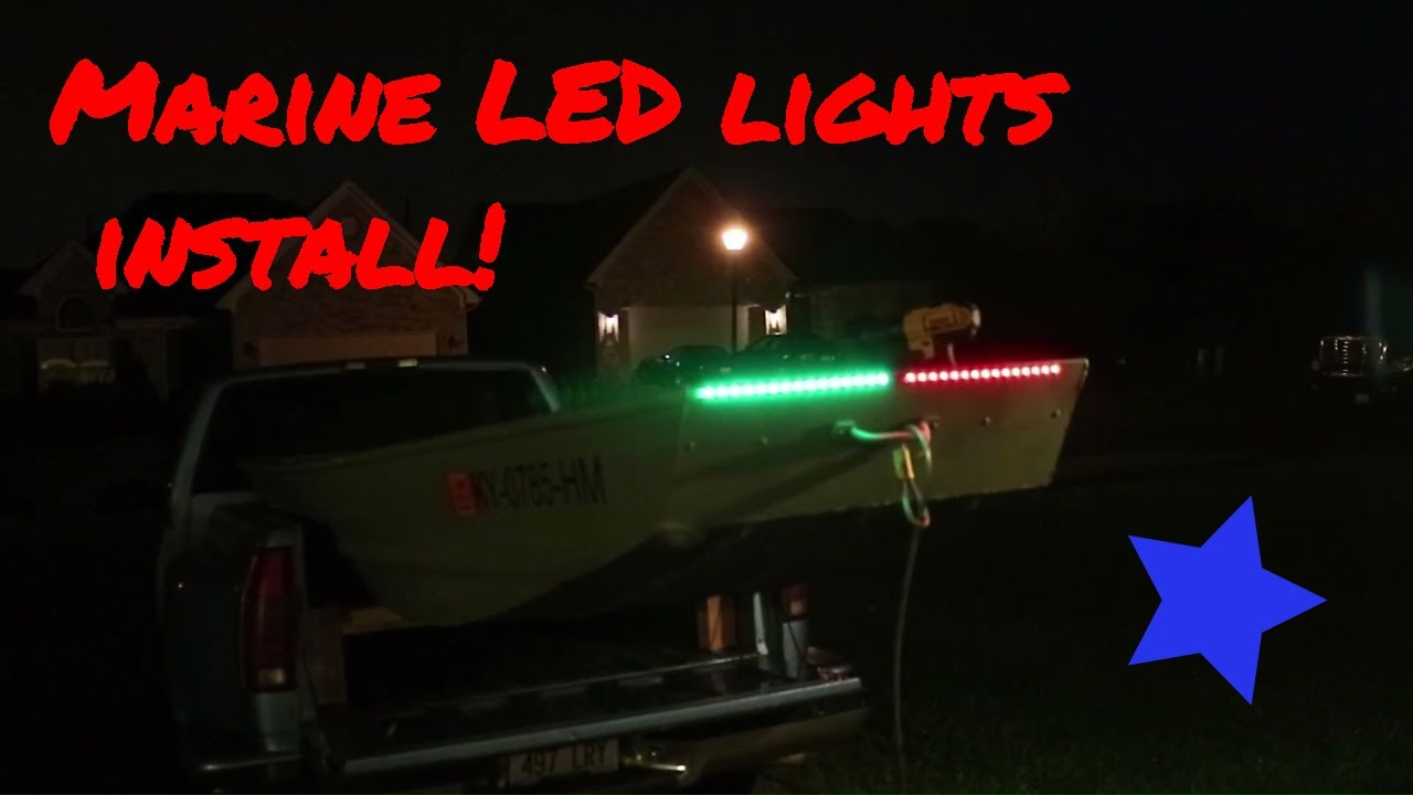 hight resolution of wiring lights on jon boat wiring diagram view how to install led navigation lights on a