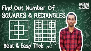 Find out Number of Squares & Rectangles | SHORT TRICK for Counting Figures | By Sanjay Saini