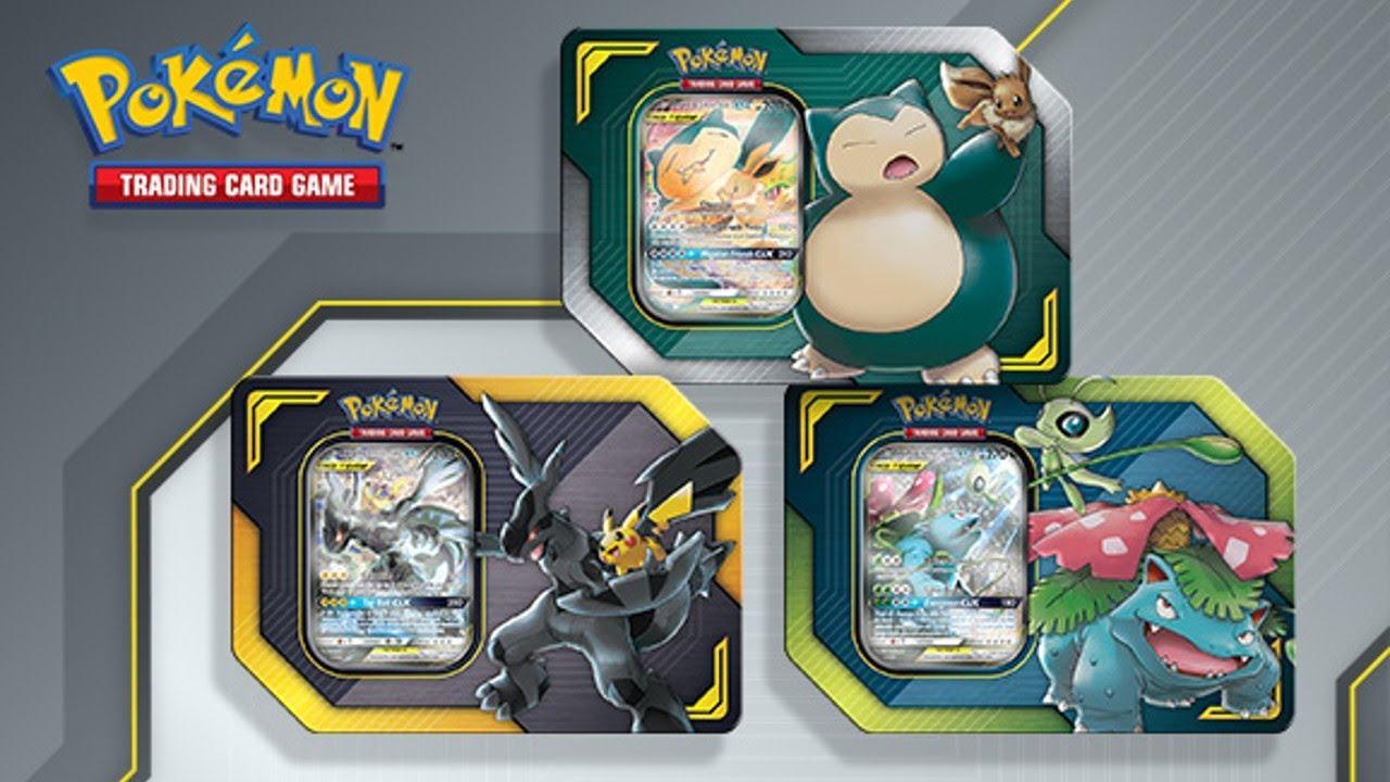 Opening 1 Of Each Pokemon Tcg Tag Team Tin Pikachu Zekrom
